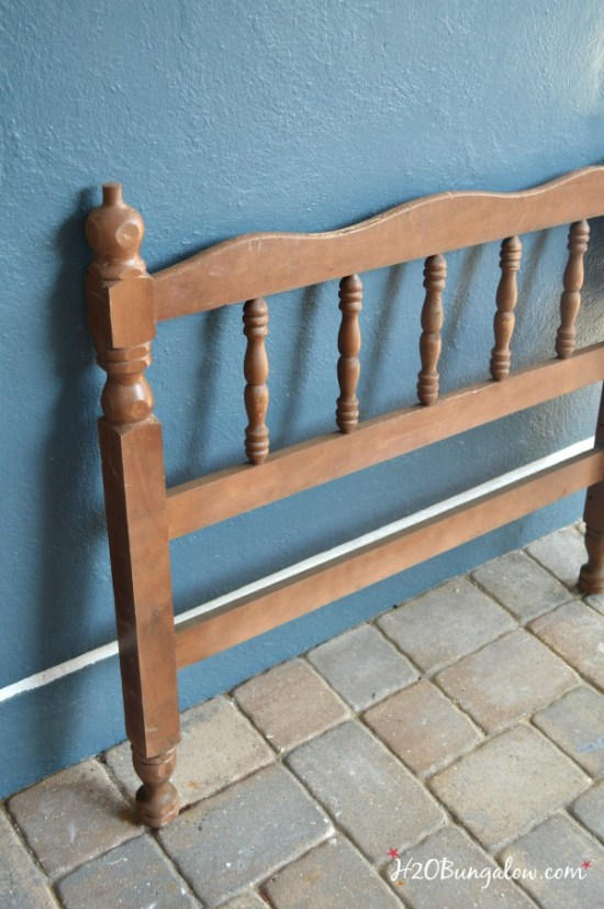 twin bed frame to make spindle Easter carrots a DIY project