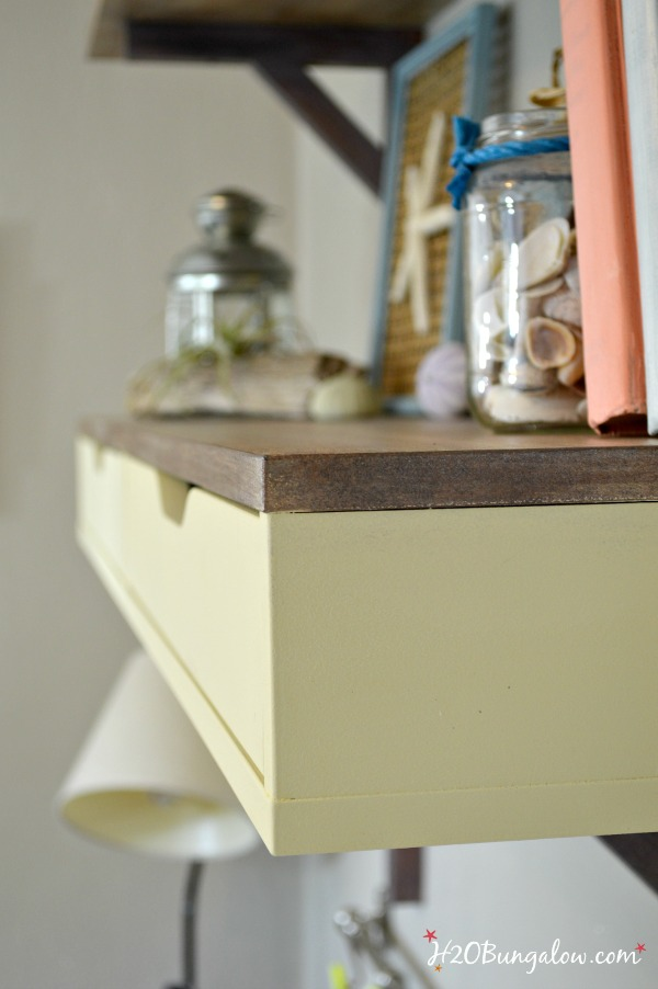 office shelves and desk makeover with faux wood  grainging H2OBungalow