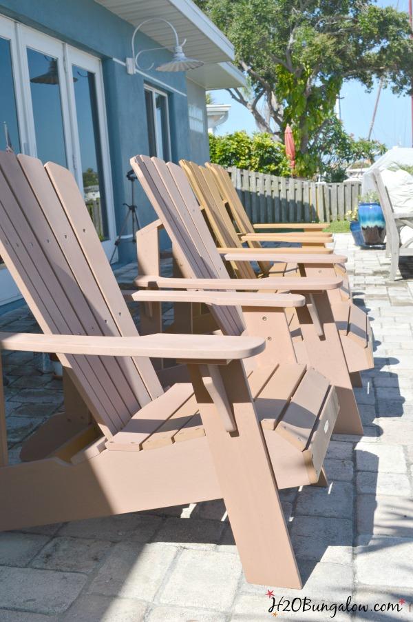 Unpainted outdoor furniture H2OBungalow