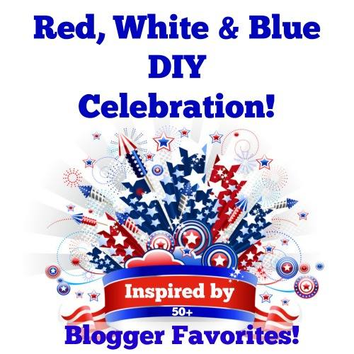 Red white and blue DIY patriotic tour feauturing 50+ creative DIY projects you can do today shared by a talented group of DIY'er bloggers. See them all on H2OBungalow #patriotic #redwhiteandblue #americana
