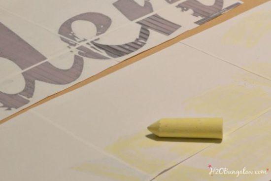 Wood cut out letter tracing technique H2OBungalow