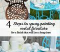 How To Spray Paint Metal Outdoor Furniture To Last A Long Time H2obungalow