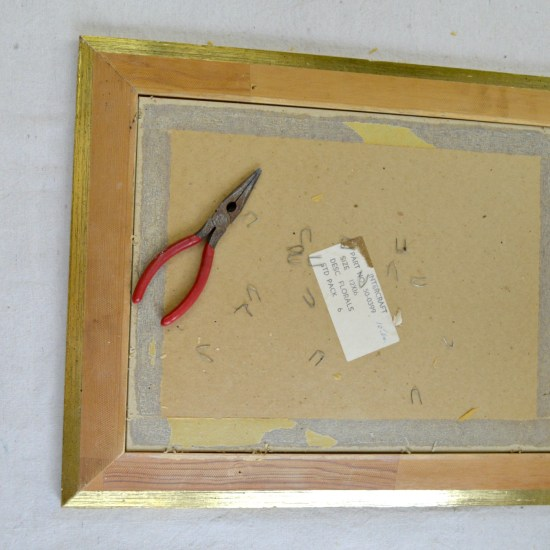take apart the picture frame