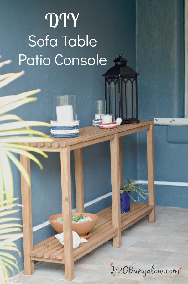 diy outdoor sofa table tutorial