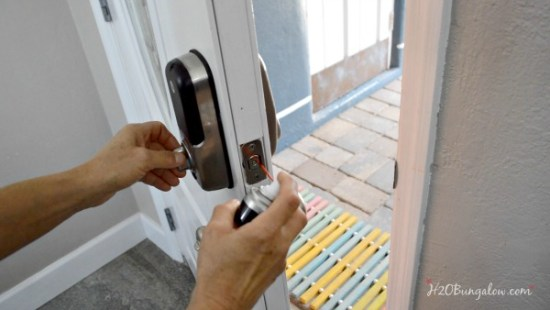 Simple home maintenance tutorial to lubricate door locks and hinges to protect them from the elements and keep them working smoothly for many years.