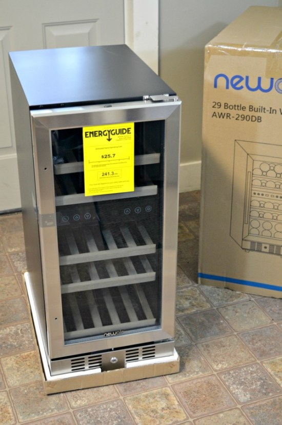 Simple tutorial instructions to make a DIY built in wine cooler in your kitchen. Built in wine refrigerators look great and increase the value of a home