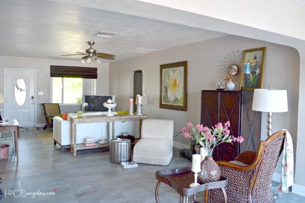 contemporary coastal living room makeover h20bungalow