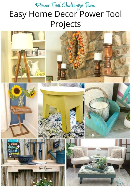 Easy power tool home decor DIY projects you can make in a day.