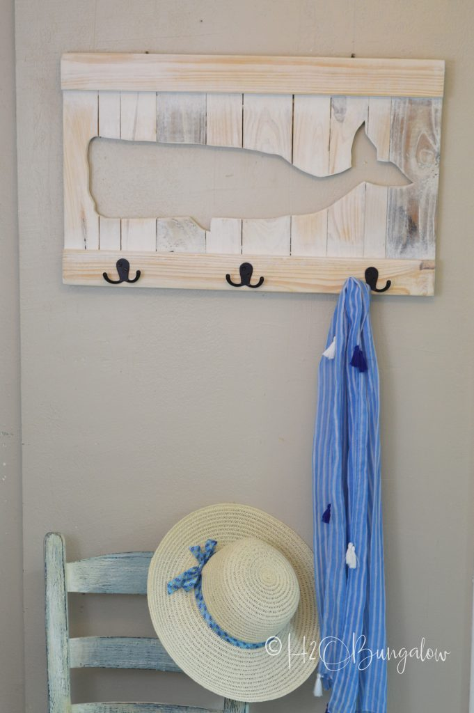 DIY Coastal Whale Coat Rack