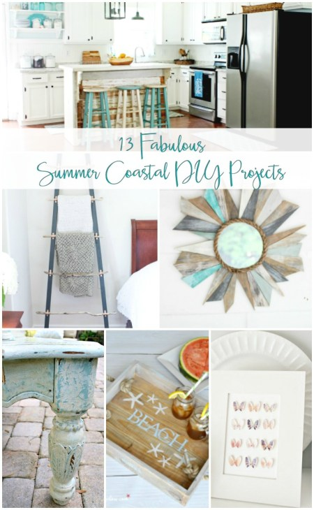 Every coastal home needs a a bit of weathered wood and ocean blue! Find 13 fresh and trendy beach house decor ideas that you can DIY. Tutorials for coastal decor and beach themed home decor, beach cottage decor and modern coastal.
