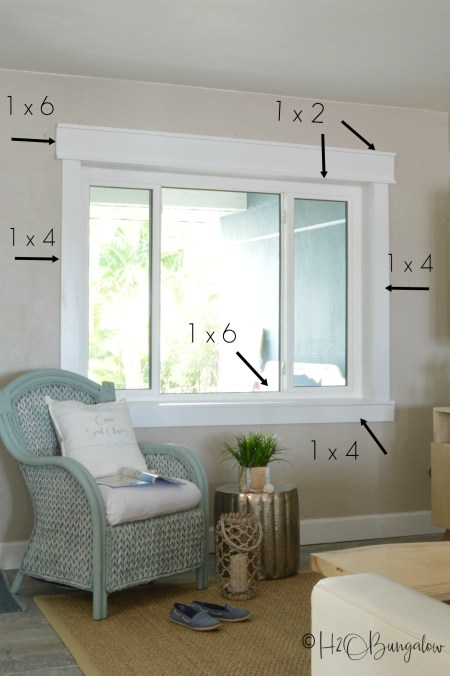 Simple Diy Craftsman Style Window Trim Tutorial H20bungalow