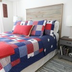 DIY rustic headboard tutorial with video to make a queen size wood headboard. Modify these plans for other bed sizes. Under $50 to make this modern headboard.