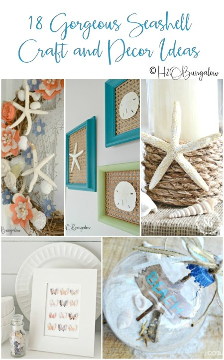 18 creative seashell craft and decor ideas you can DIY. These coastal shell projects are easy and inexpensive to make. Use seashells from you beach vacation to make your own home decor! #seashell #coastaldecor