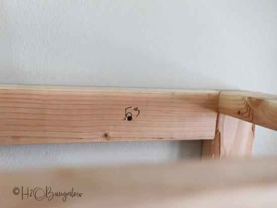 frame for DIY fireplace
