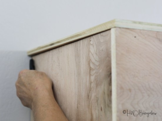 Building tip for a DIY fireplace mantel