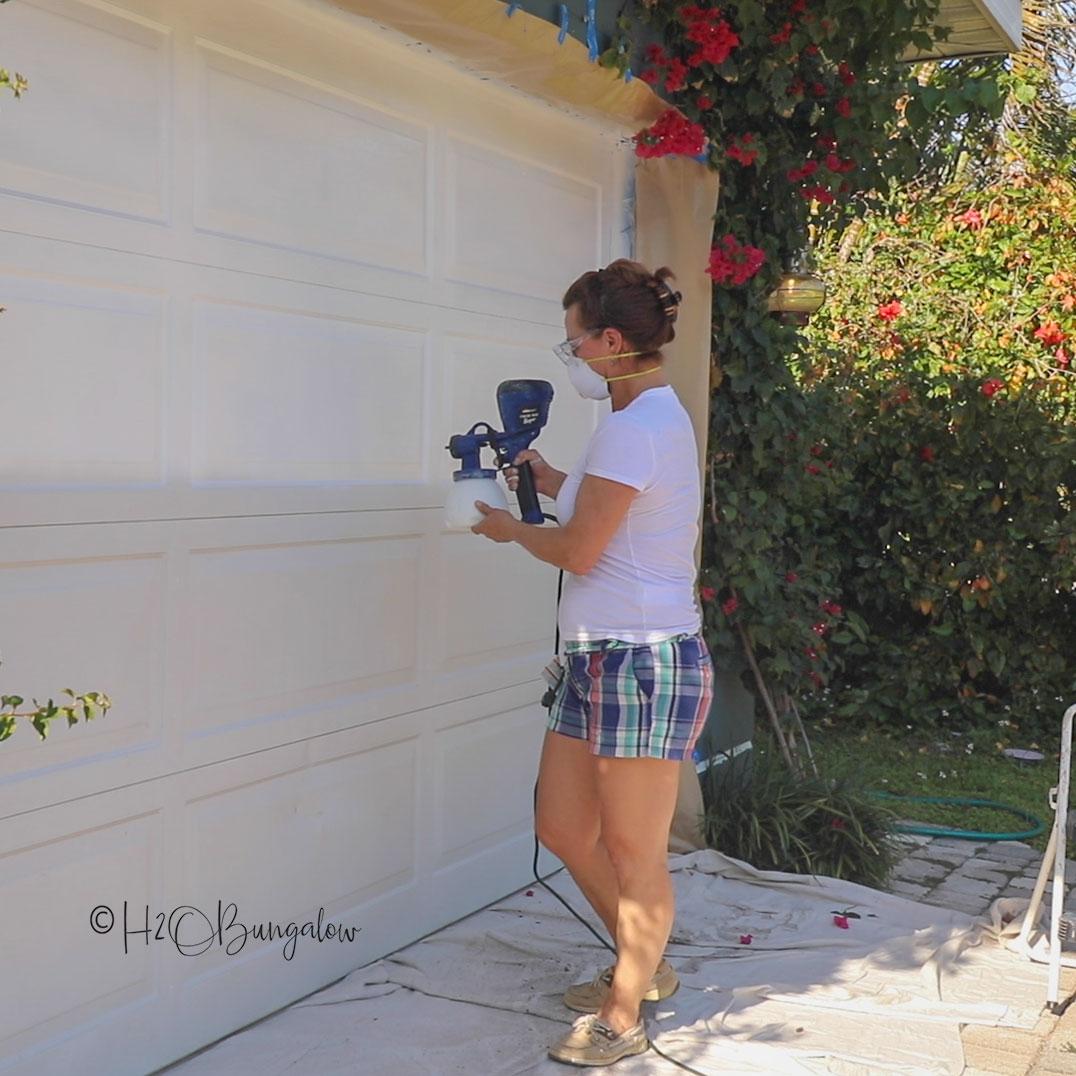How To Make Faux Garage Door Windows H2obungalow