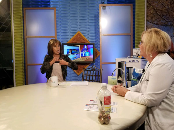 Vickie is giving interview about health healthy water solutions