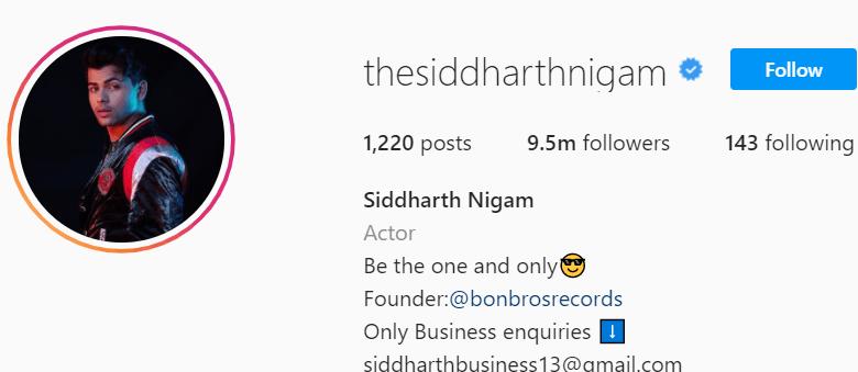 Biography of Siddharth Nigam
