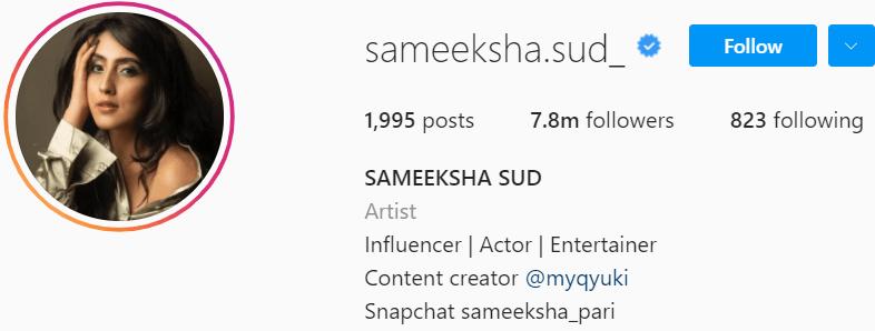 Biography of Sameeksha Sud