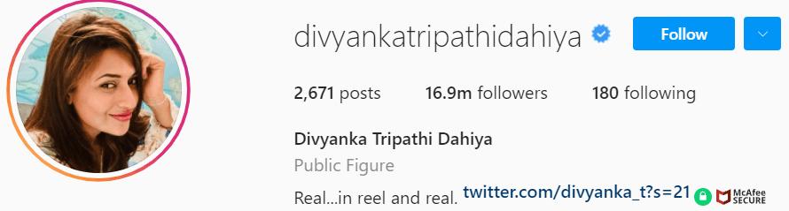 Biography of Divyanka Tripathi