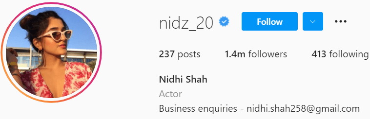 Biography of Nidhi Shah