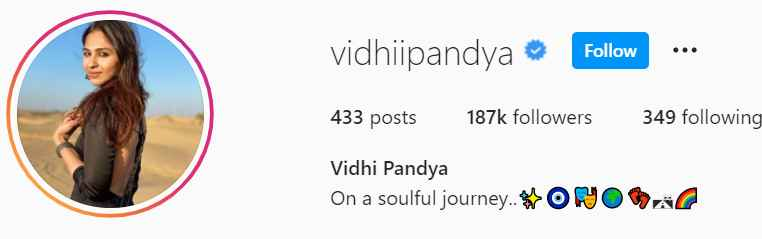 Biography of Vidhi Pandya