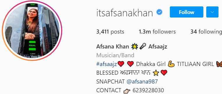 Biography of Afsana Khan