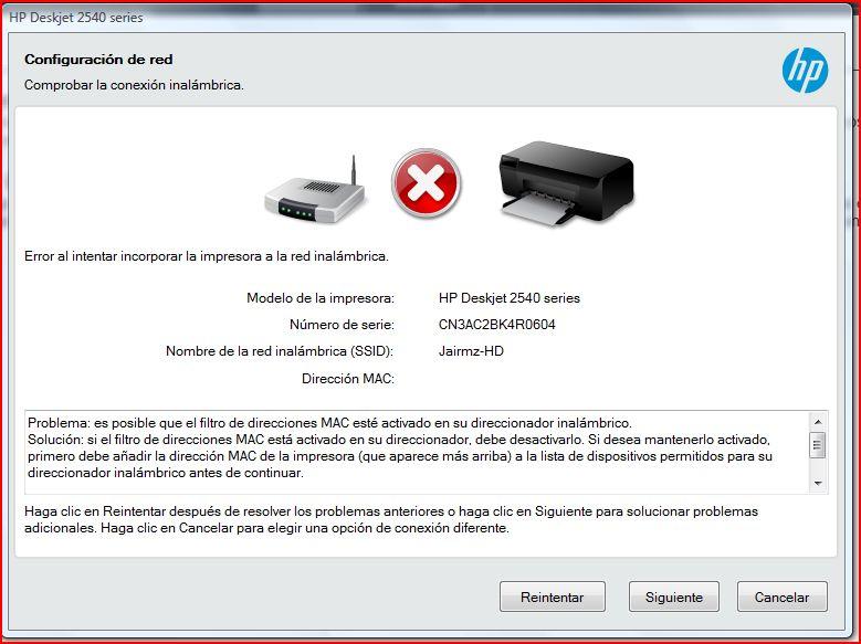 Solucionado Hp Deskjet 2540 Aio No Se Conecta A Router