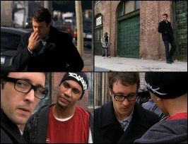 The FBI is asking questions so Vincent takes a side street, running into some bad thugs. They follow Vincent and try to intimidate him. Vincent makes his clicking noise.