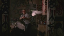 8. Danny's flashback Hitchcock moment (The Birds)