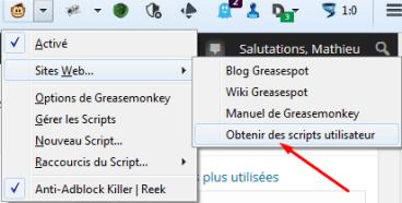 Greasemonkey obtenir des scripts