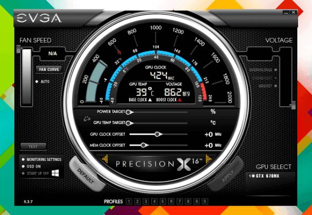 EVGA precision x overclocking ordinateur pc