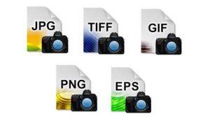 différents formats d'images à redimensionner