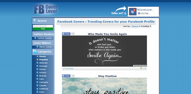 fb cover lover photo de couverture facebook