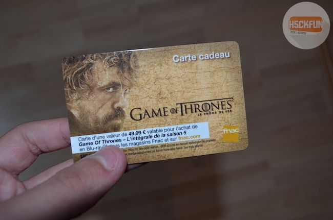 Carte Cadeau GoT Saison 5