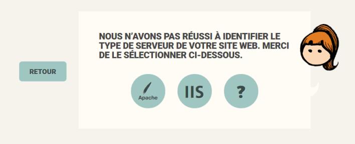 Type du Serveur WEB non trouvé