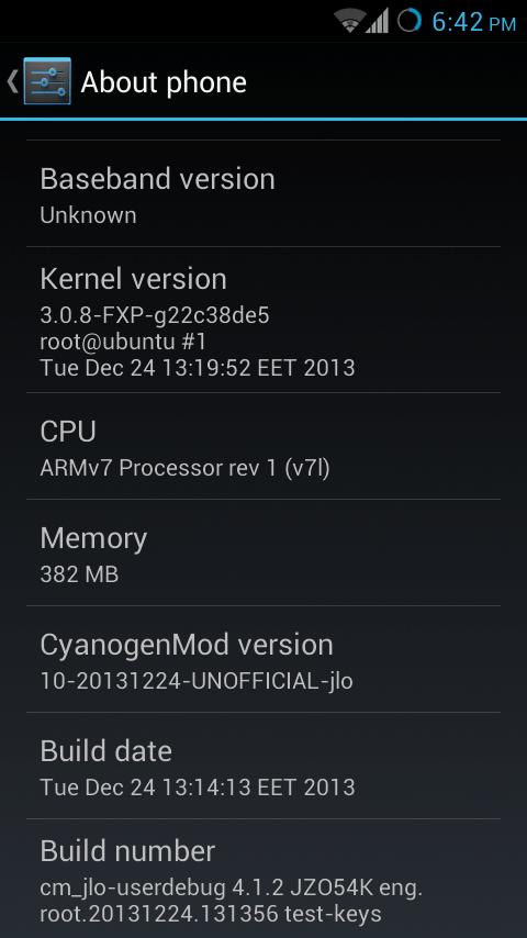 CM10 on Xperia J