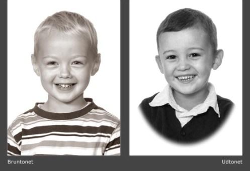 Bruntonet & Udtonet børnehavefoto