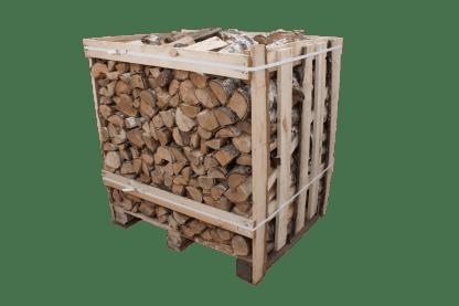 Berkenhout gestapelde pallet - haardhouttoppers.nl