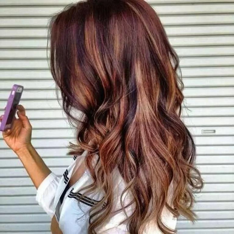 5 Braune Haare Mit Blonden Und Roten Strhnen