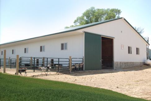 Franseen Friendly Acres Goat Dairy - post frame building