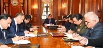 Совещание Э.Рахмона с руководителями силовых ведомств