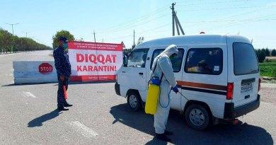 """Коронавирус: вся территория Узбекистана вошла в """"красную зону"""""""