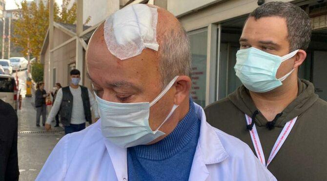 Doktorun başını taşla yaran hasta yakını adli kontrolle serbest