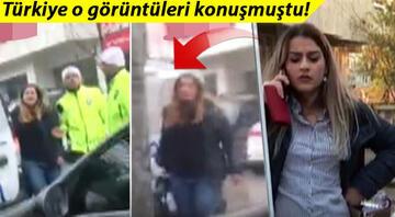Polisi tehdit eden o kadınla ilgili yeni görüntüler ortaya çıktı