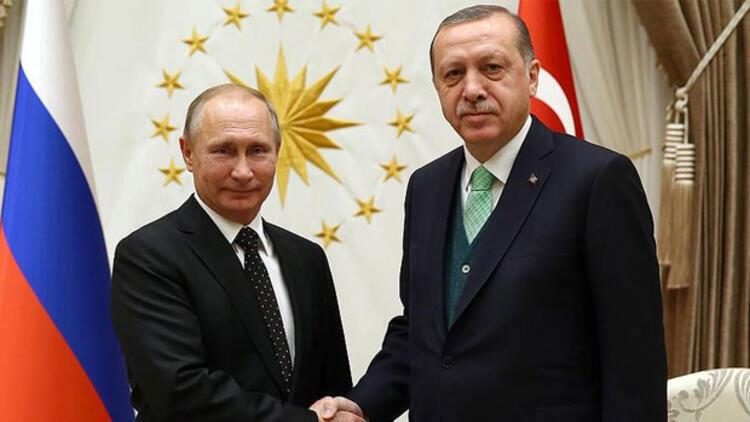 Cumhurbaşkanı Erdoğan ile Putin'den Dağlık Karabağ görüşmesi