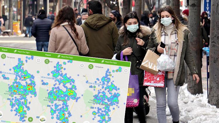 Kentte büyük değişim... Eskişehir'de koronavirüs haritası maviye döndü