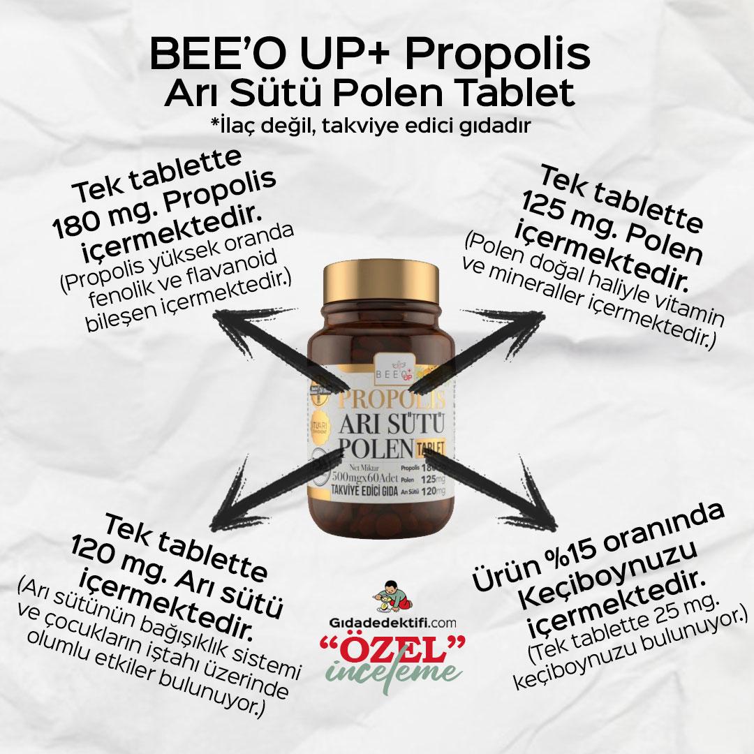 Bee'o Up Propolis Arı Sütü Polen Tablet - Gıda Dedektifi