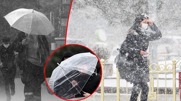 Meteoroloji tüm yurdu uyardı! Artvin hariç her yerde yağış var: Yoğun kar, sağanak, fırtına