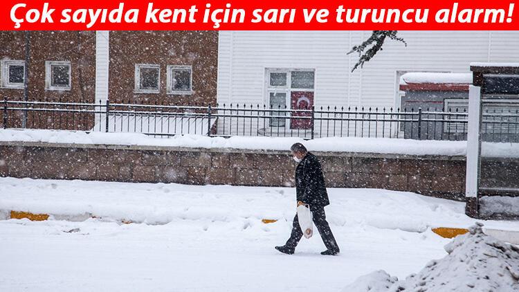 Meteoroloji'den çok sayıda kente yoğun kar uyarısı! Alarm verildi